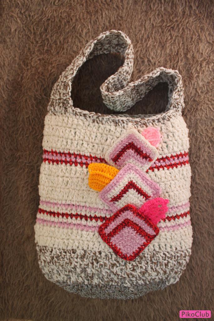 Вязание сумок из остатков пряжи