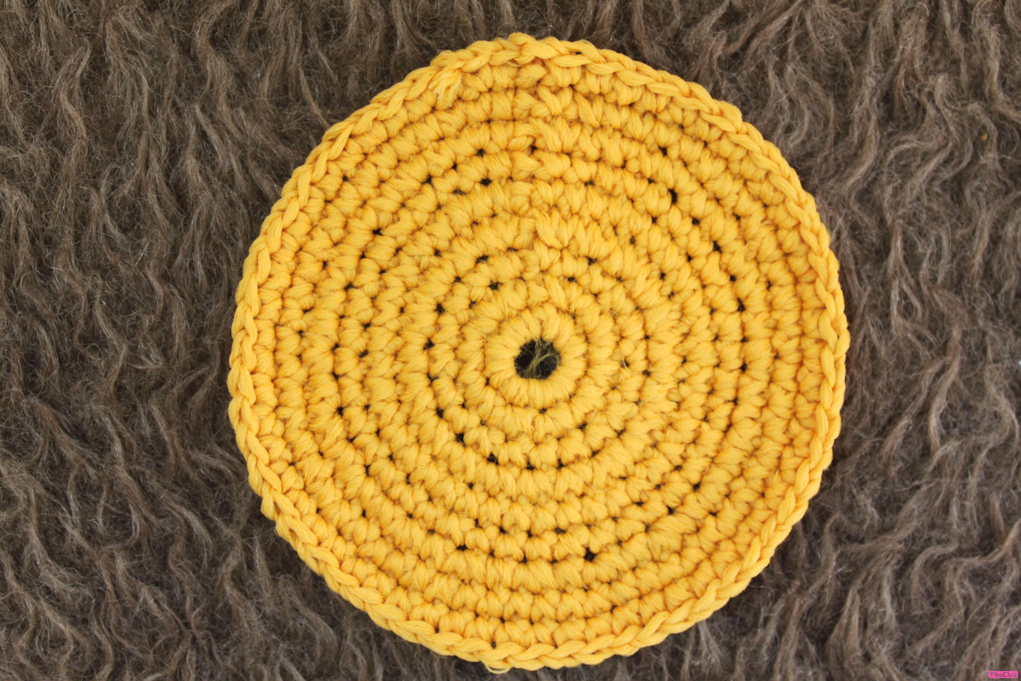 Декоративное вязание круга
