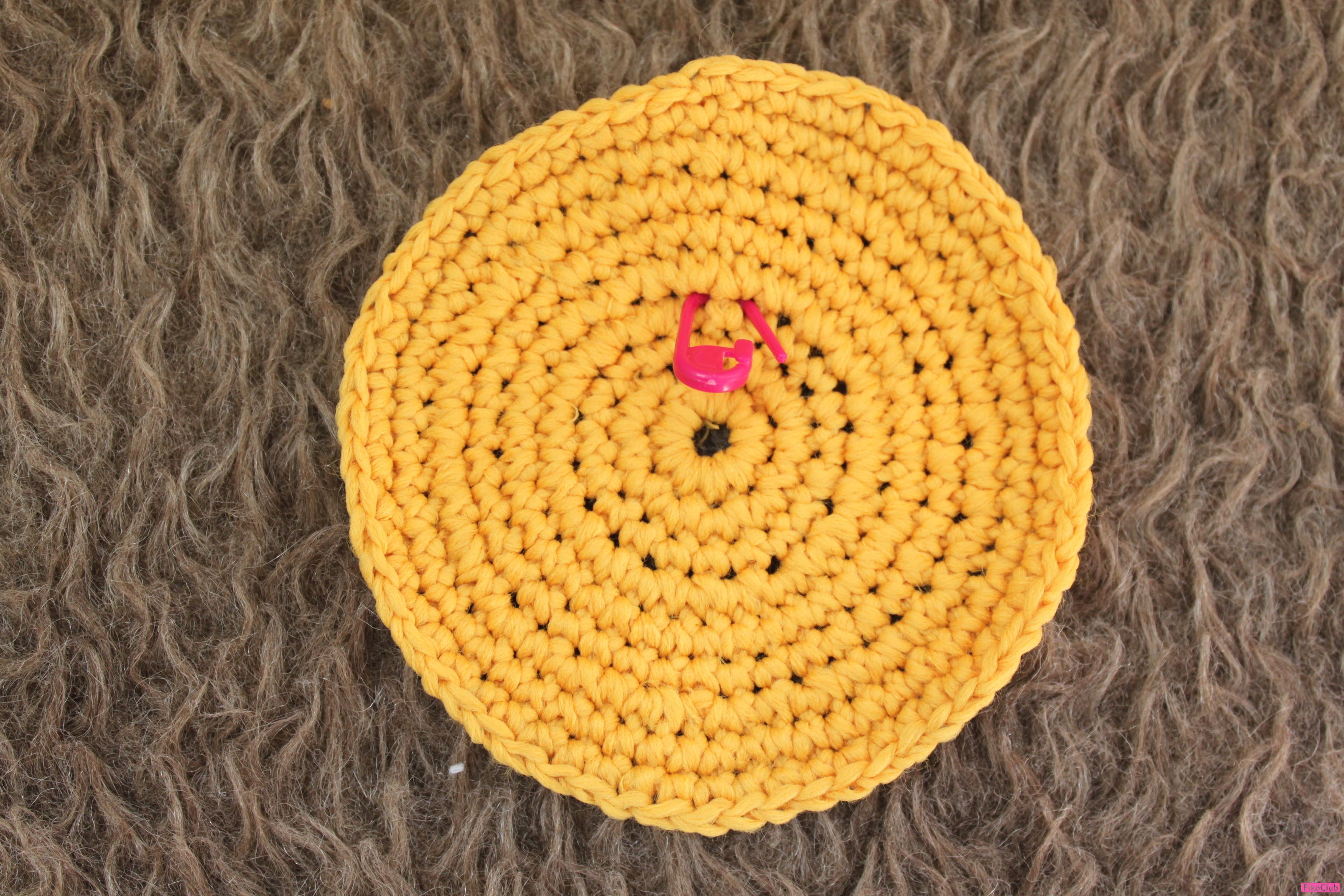 Вязание крючком по кругу разными цветами 63