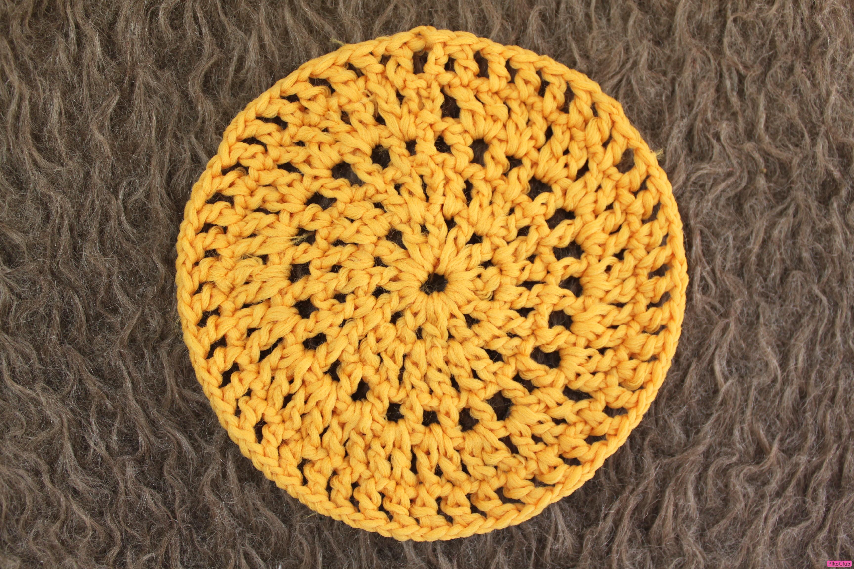 Вязание крючком по кругу разными цветами 92