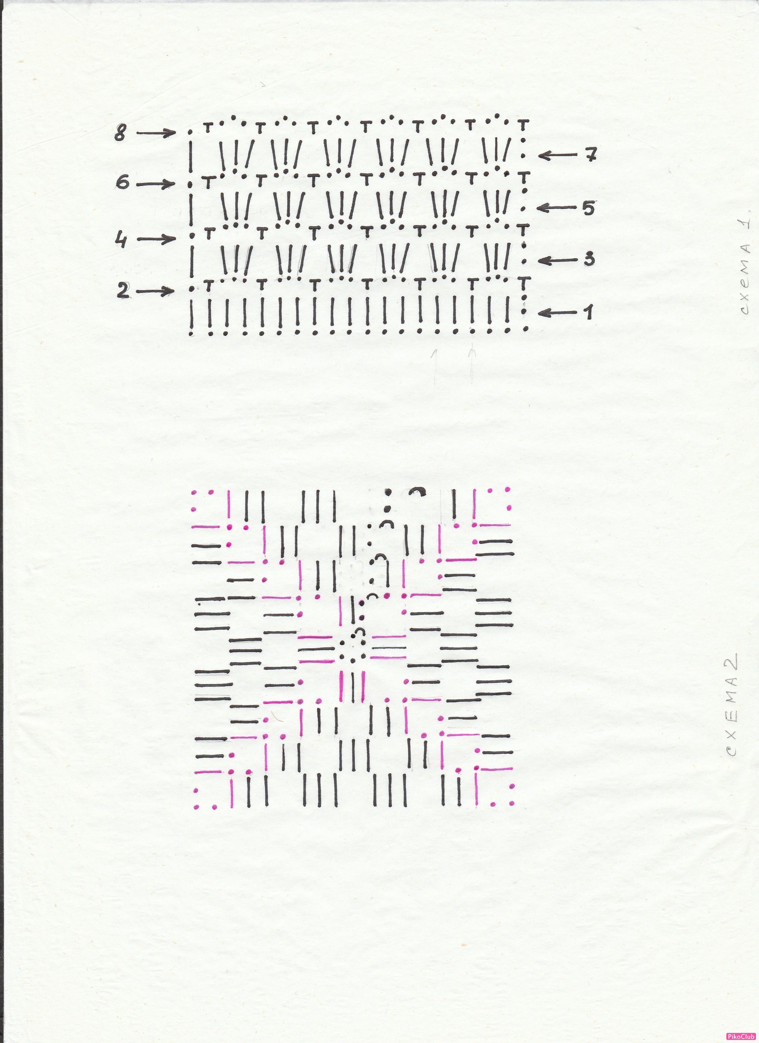 Вязание крючком квадрата из угла 7