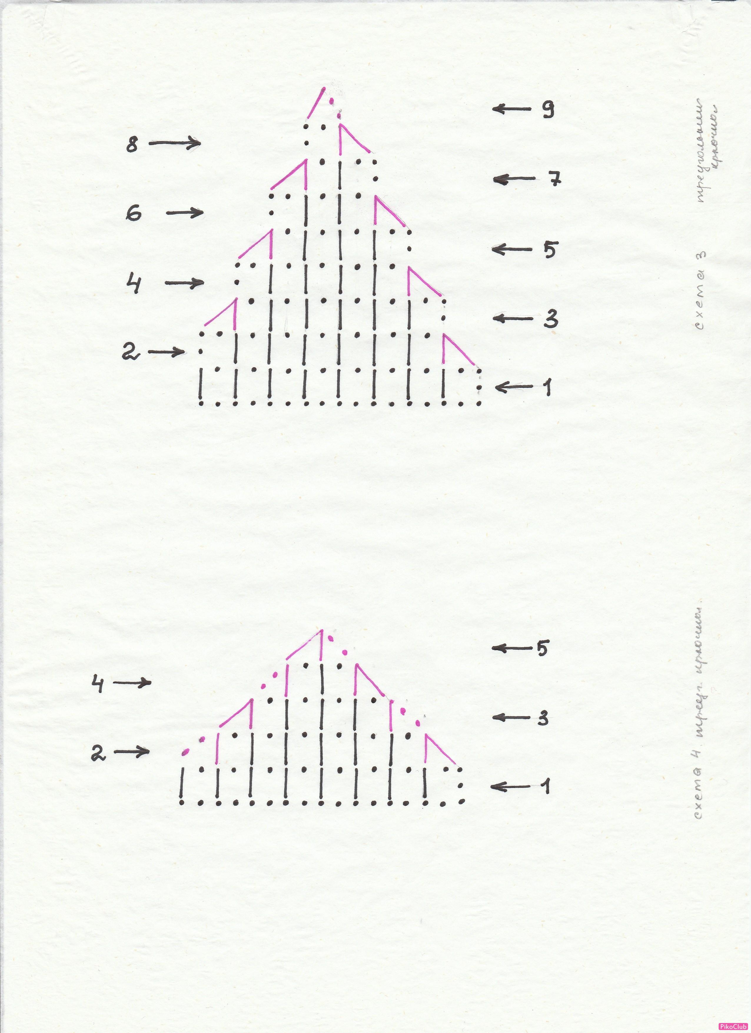 Схема вязания крючком треугольника фото 525