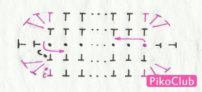 схема донышка кошелька