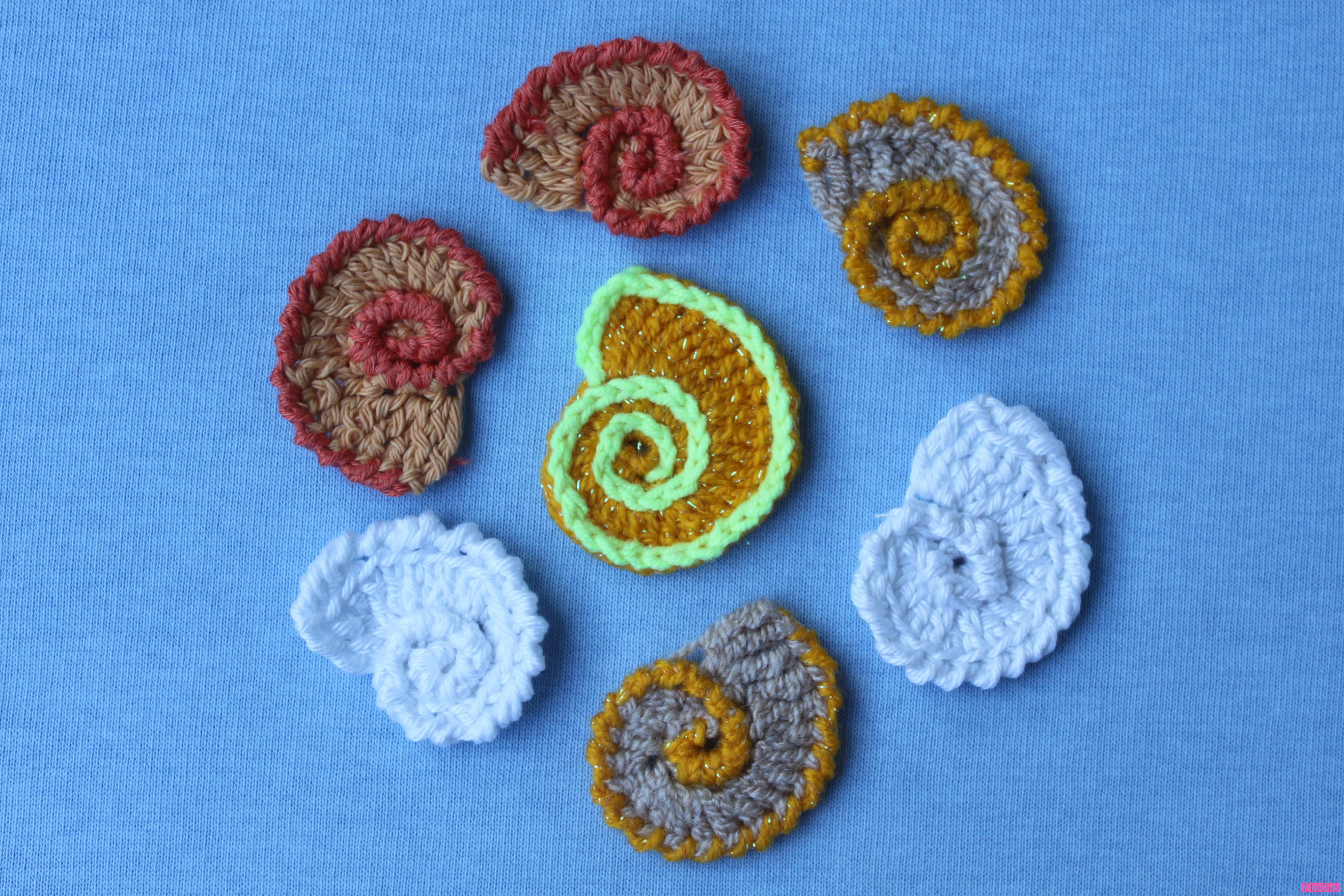 Вязание ракушки по кругу крючком 15