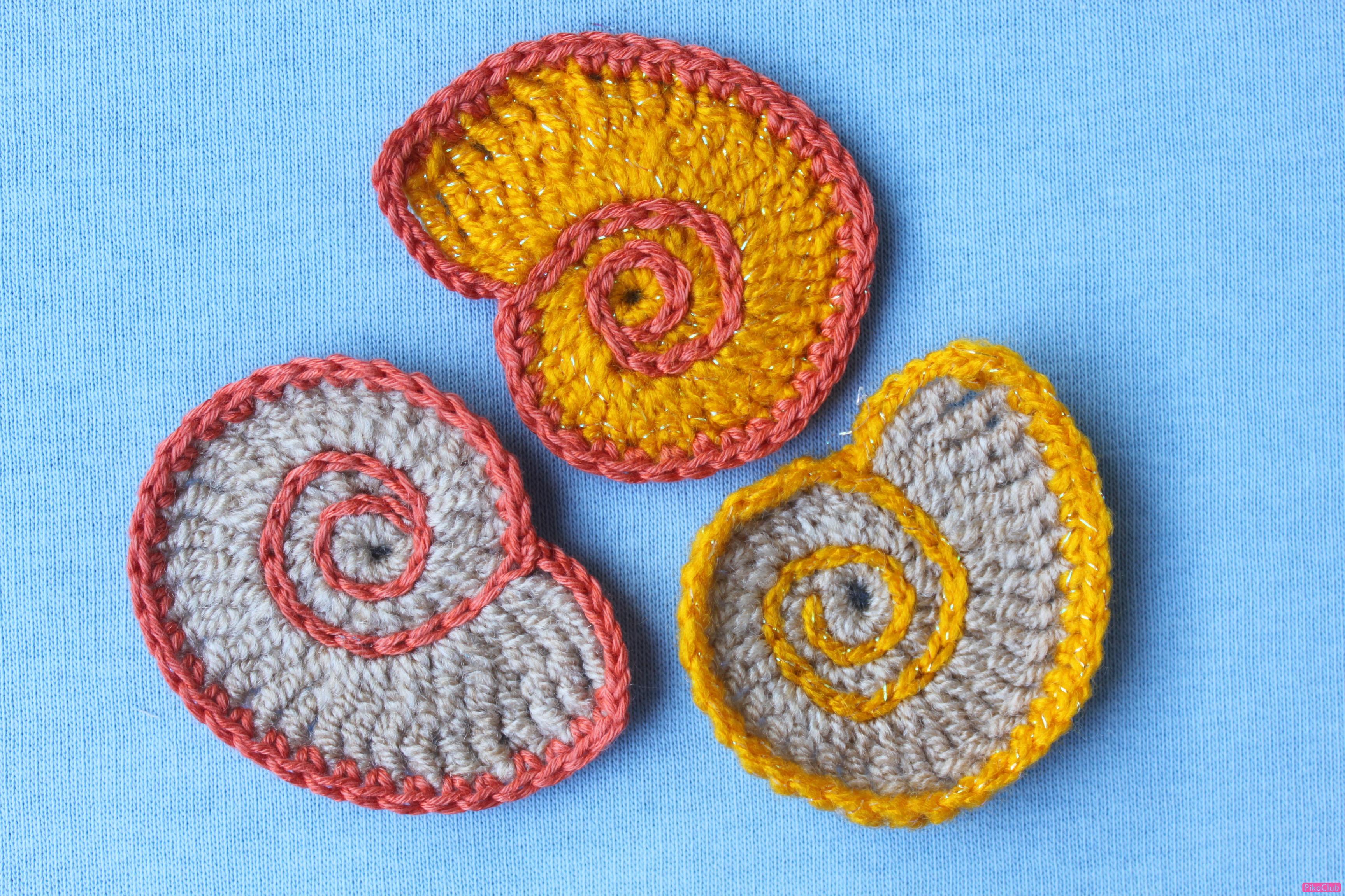 Вязание ракушки по кругу крючком 58
