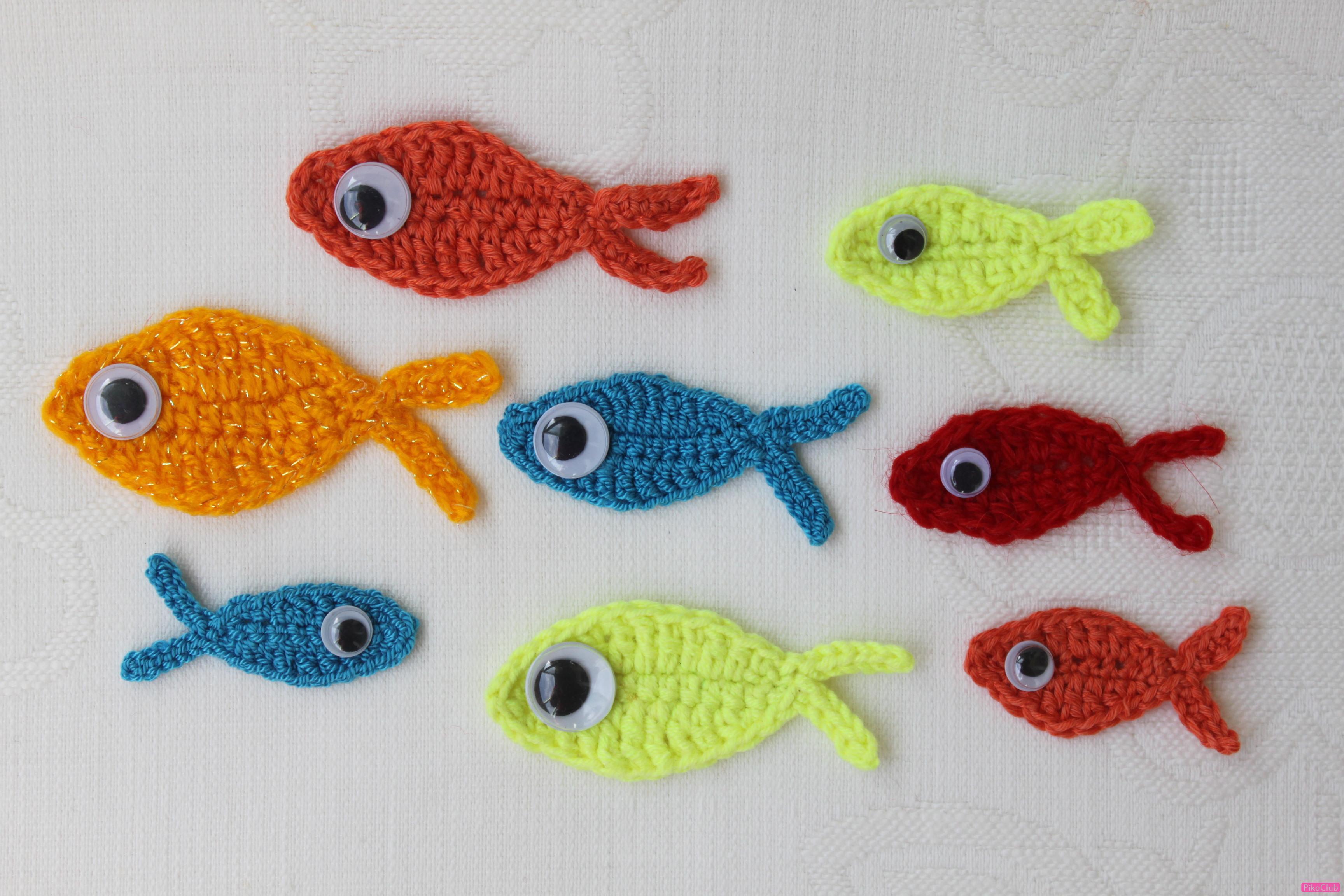 Вязаная золотая рыбка схема фото 31