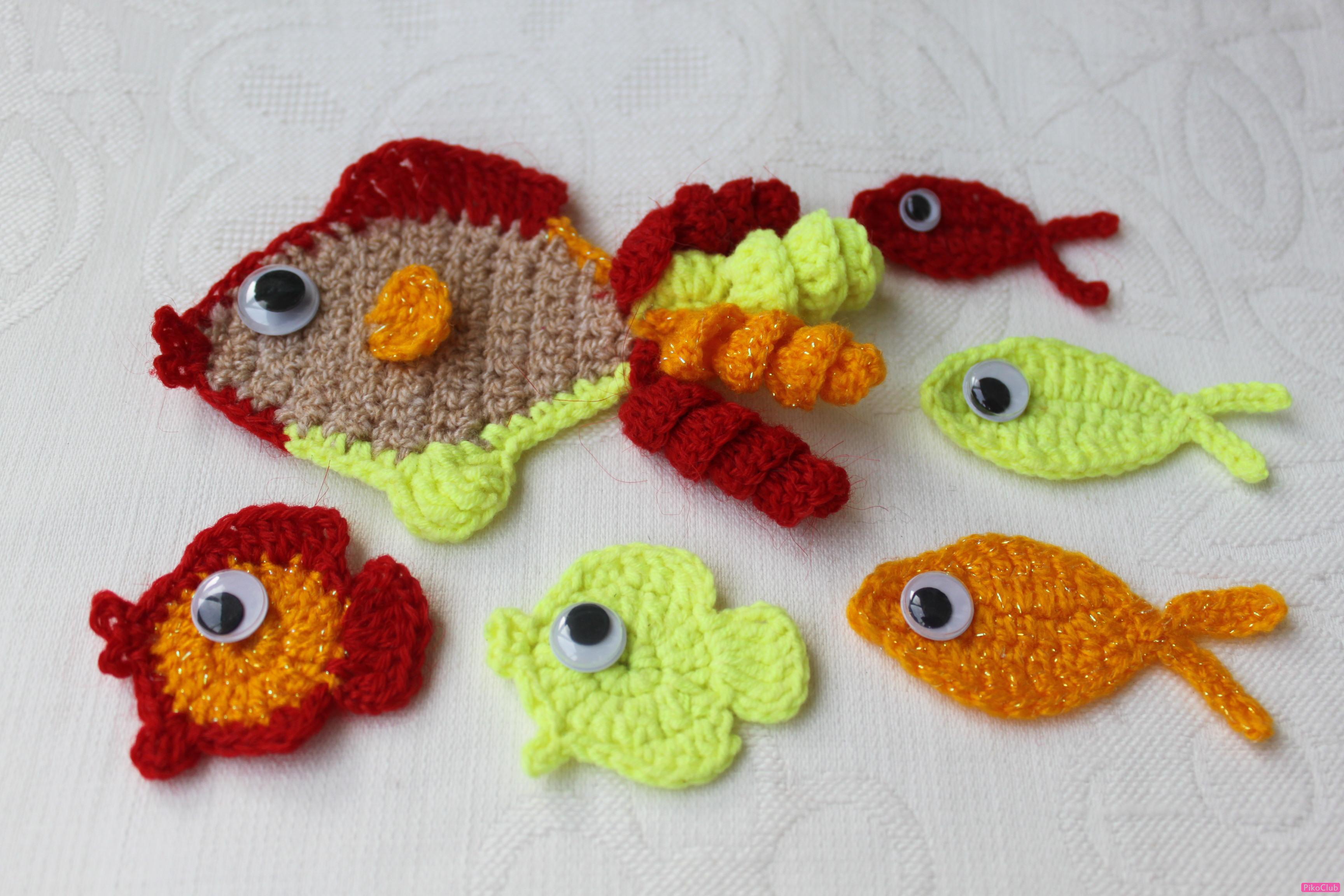 Вязание крючком рыбки 27