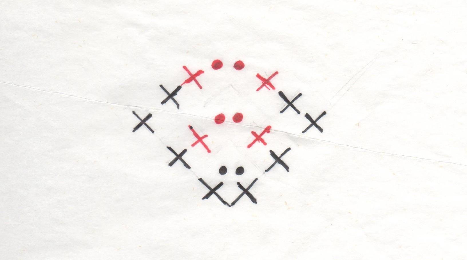 схема вязания плоской елочки крючком