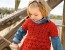 Красное ажурное платье крючком для девочки