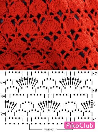 красное платье кр.схема 1