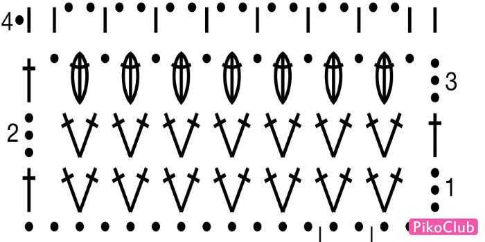 платье-туника схема узора